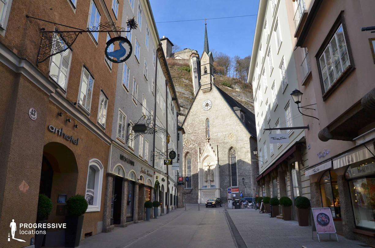Locations in Salzburg: Narrow Shopping Street, Getreidegasse
