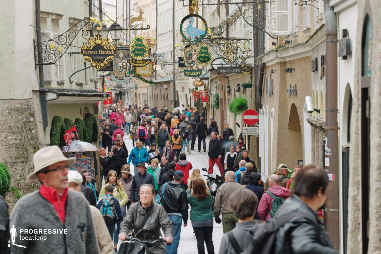 Locations in Salzburg: Getreidegasse, Old Shop Signs