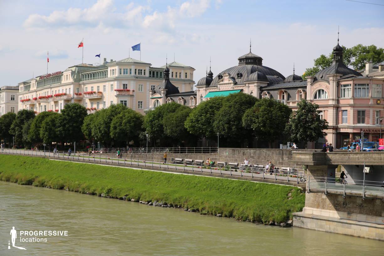 Locations in Salzburg: River %26 Promenade, Hotel Sacher