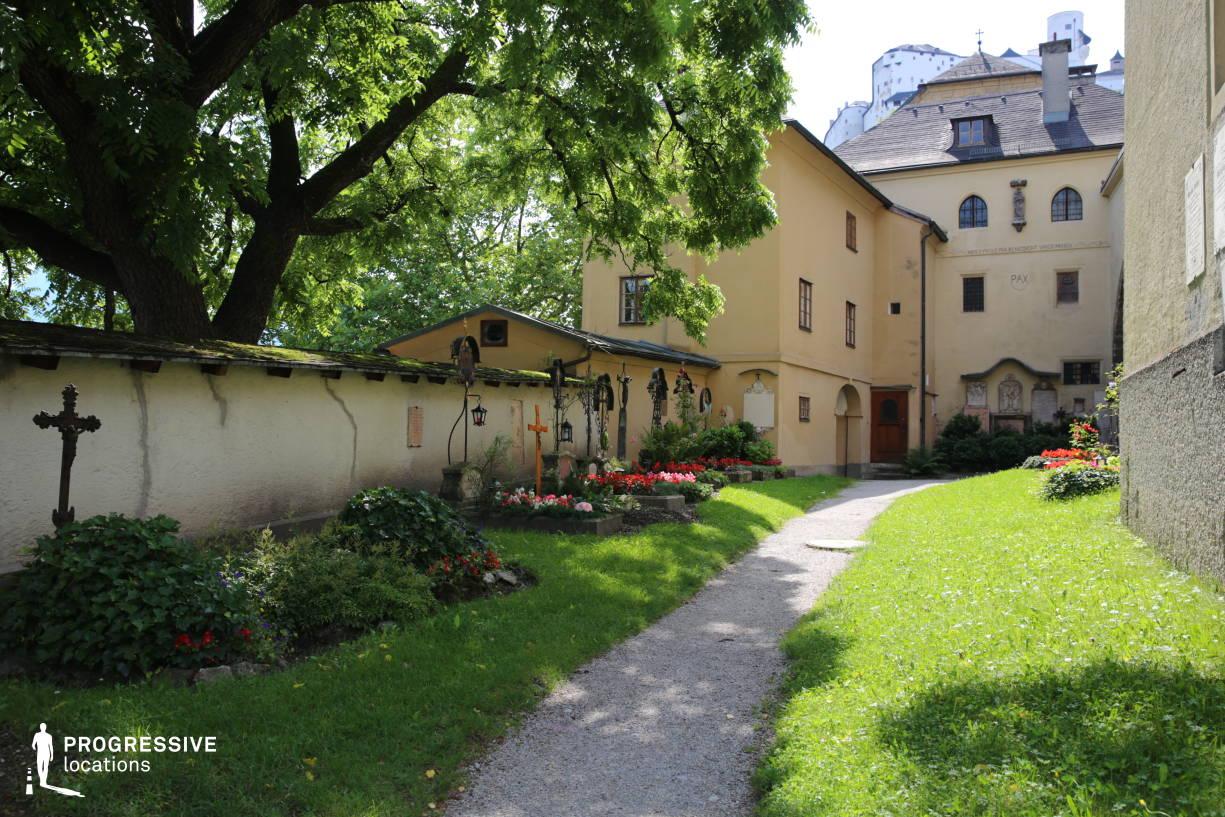 Locations in Salzburg: Garden, Nonnberg Abbey