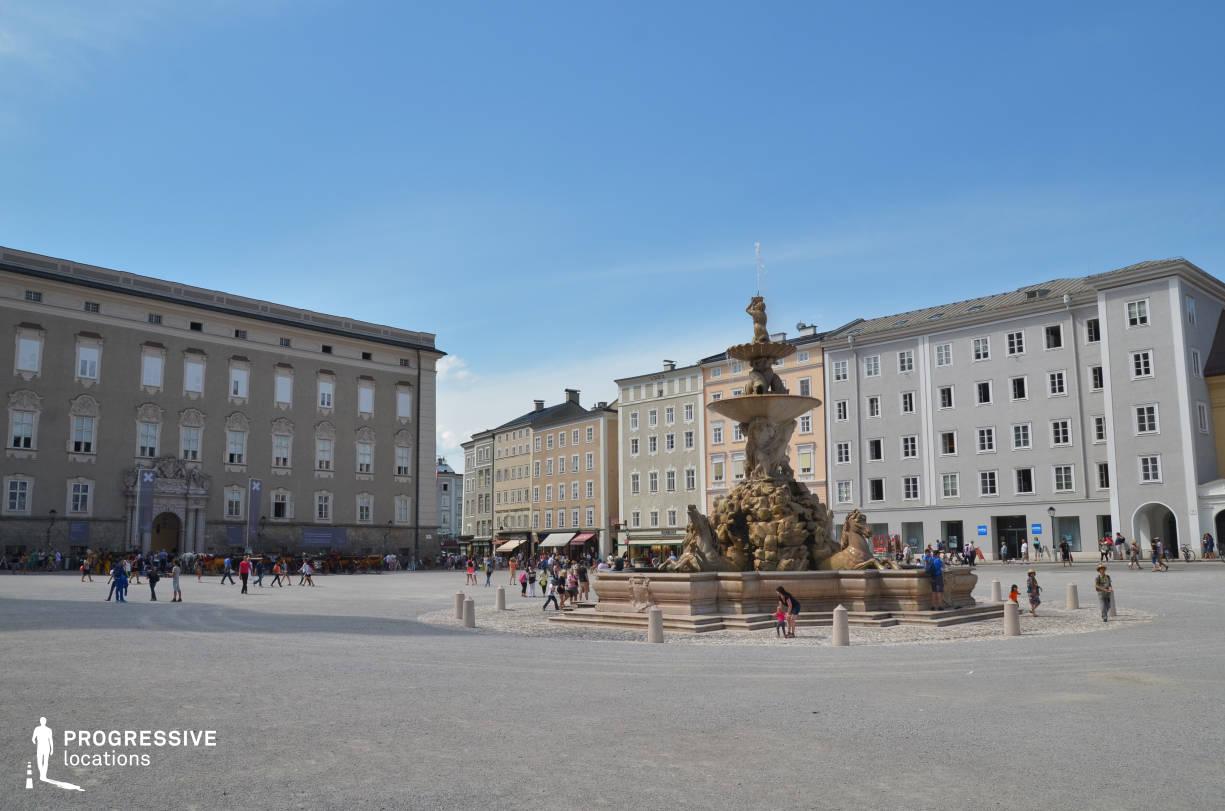 Locations in Salzburg: Fountain %26 Square, Residenzplatz