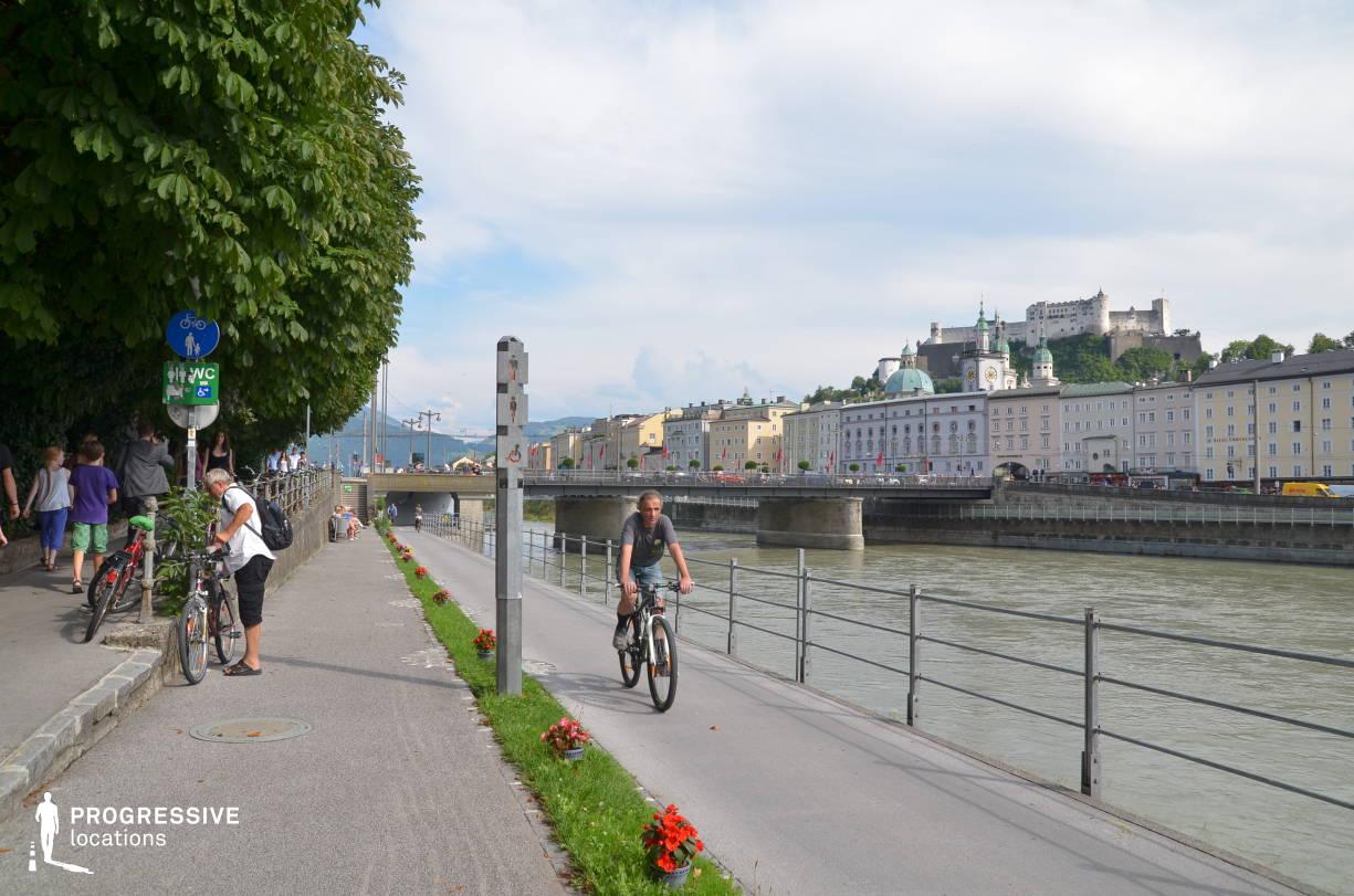 Locations in Salzburg: Riverside Bike Route