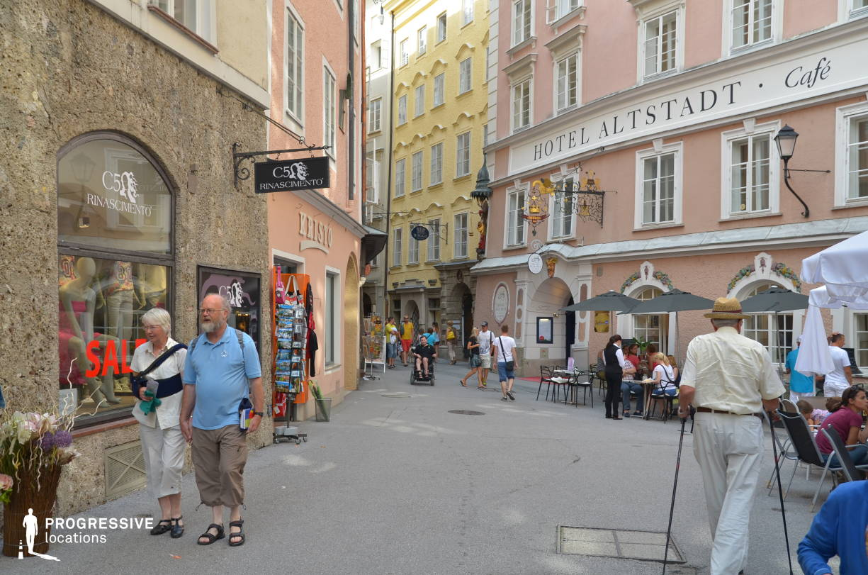 Locations in Salzburg: Shopping Alley, Old Town