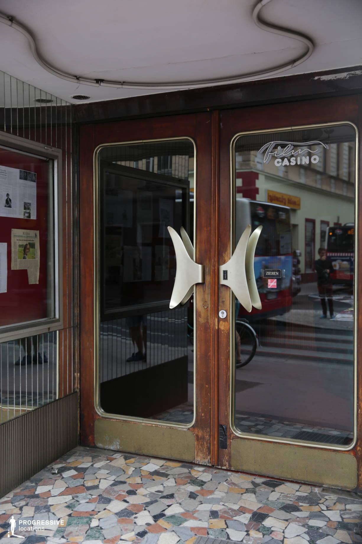 Locations in Austria: Entrance with Art Deco Door, Filmcasino