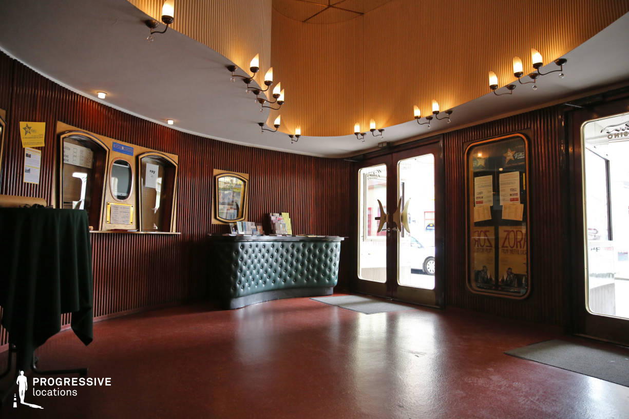 Locations in Austria: Lobby with Wood Panelled Walls, Filmcasino