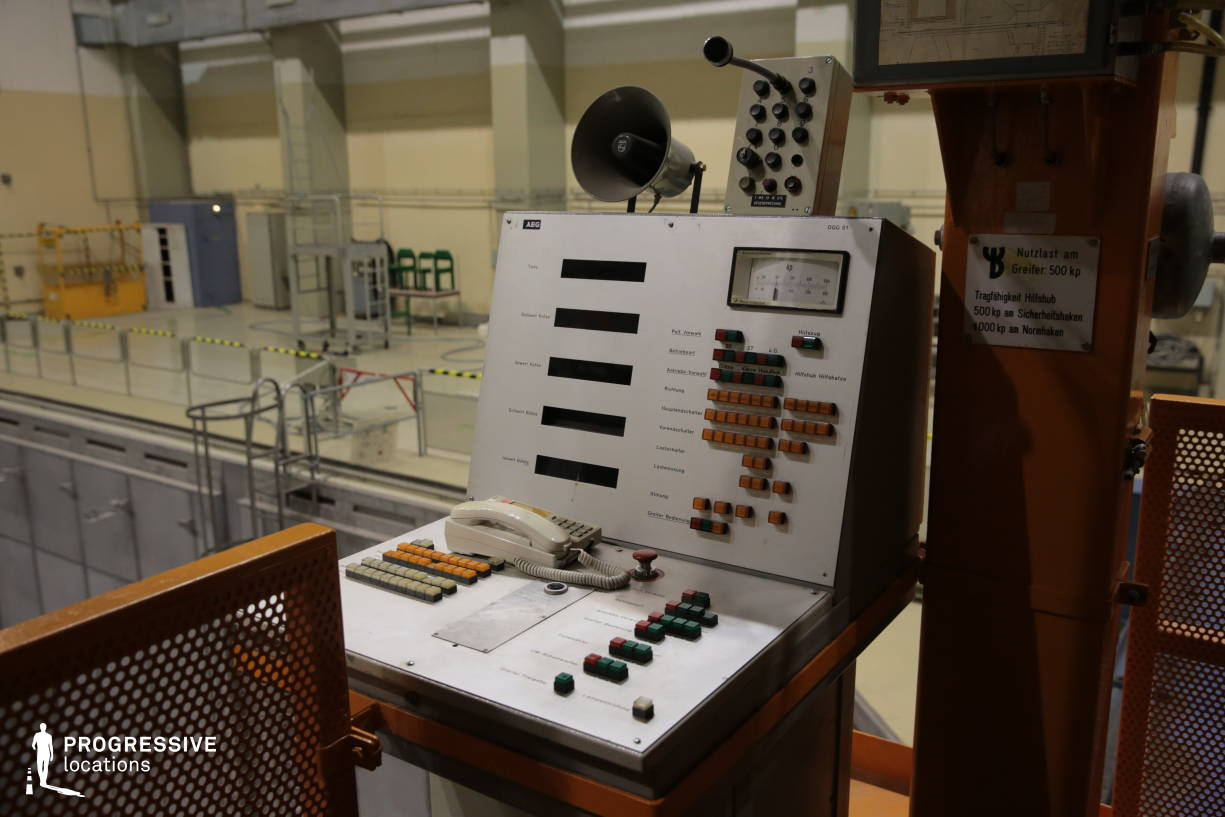 Locations in Austria: Control Panel in Reactor Hall, Nuclear Power Plant
