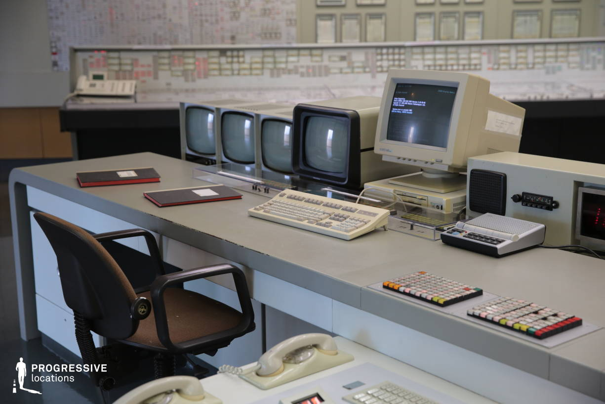 Locations in Austria: Control Room Desk, Nuclear Power Plant