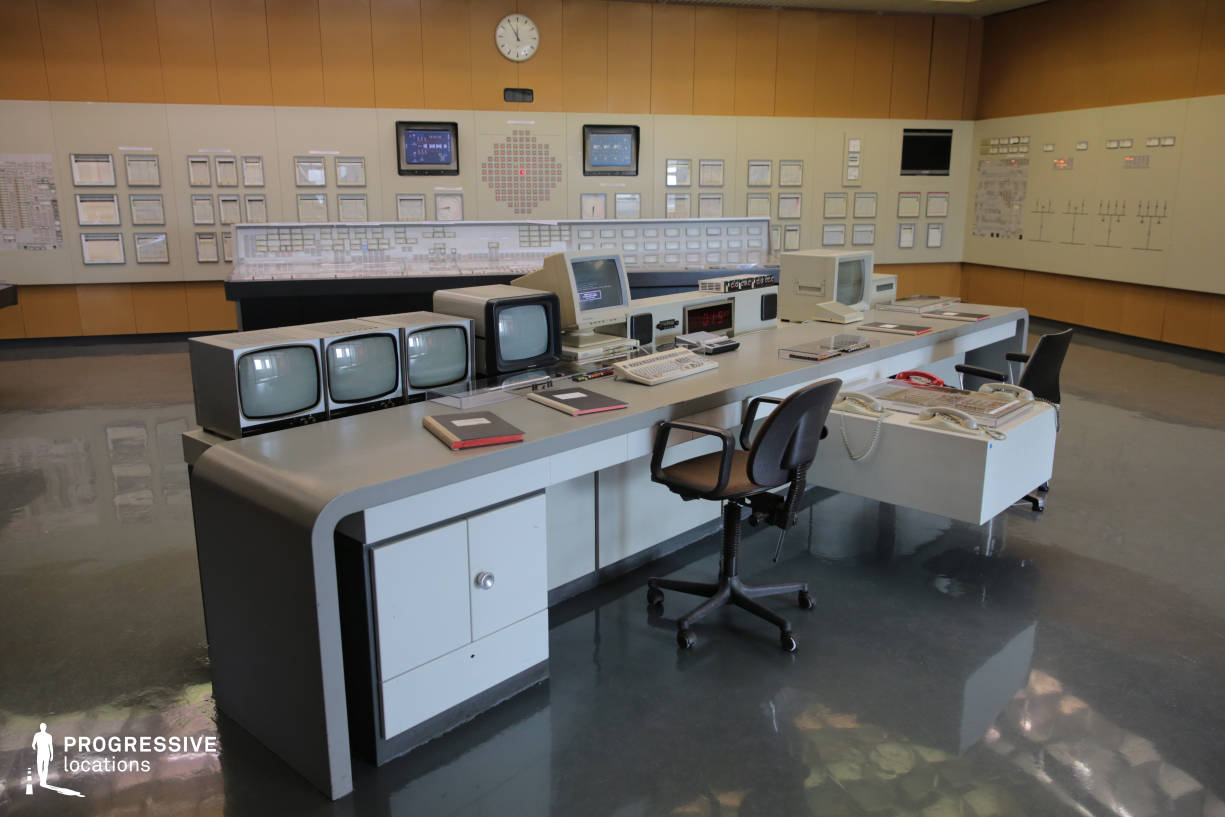 Locations in Austria: Main Desk in Control Room, Nuclear Power Plant