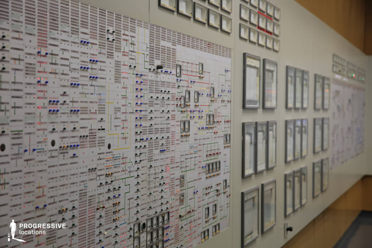 Locations in Austria: Switch Panel Buttons in Control Room, Nuclear Power Plant
