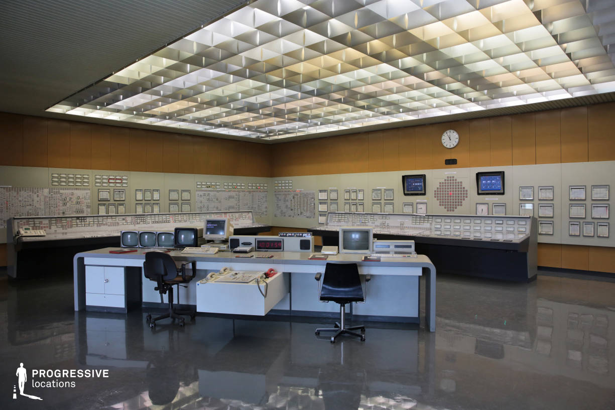 Locations in Austria: Vintage Control Room, Nuclear Power Plant
