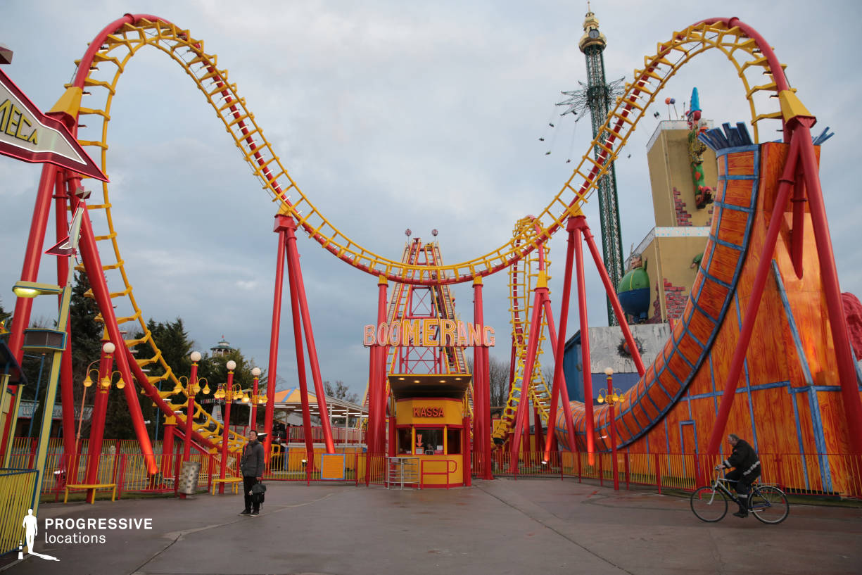 Locations in Austria: Boomerang Roller Coaster, Amusement Park