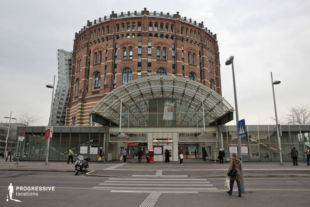 Locations in Austria: Gasometer Metro Station