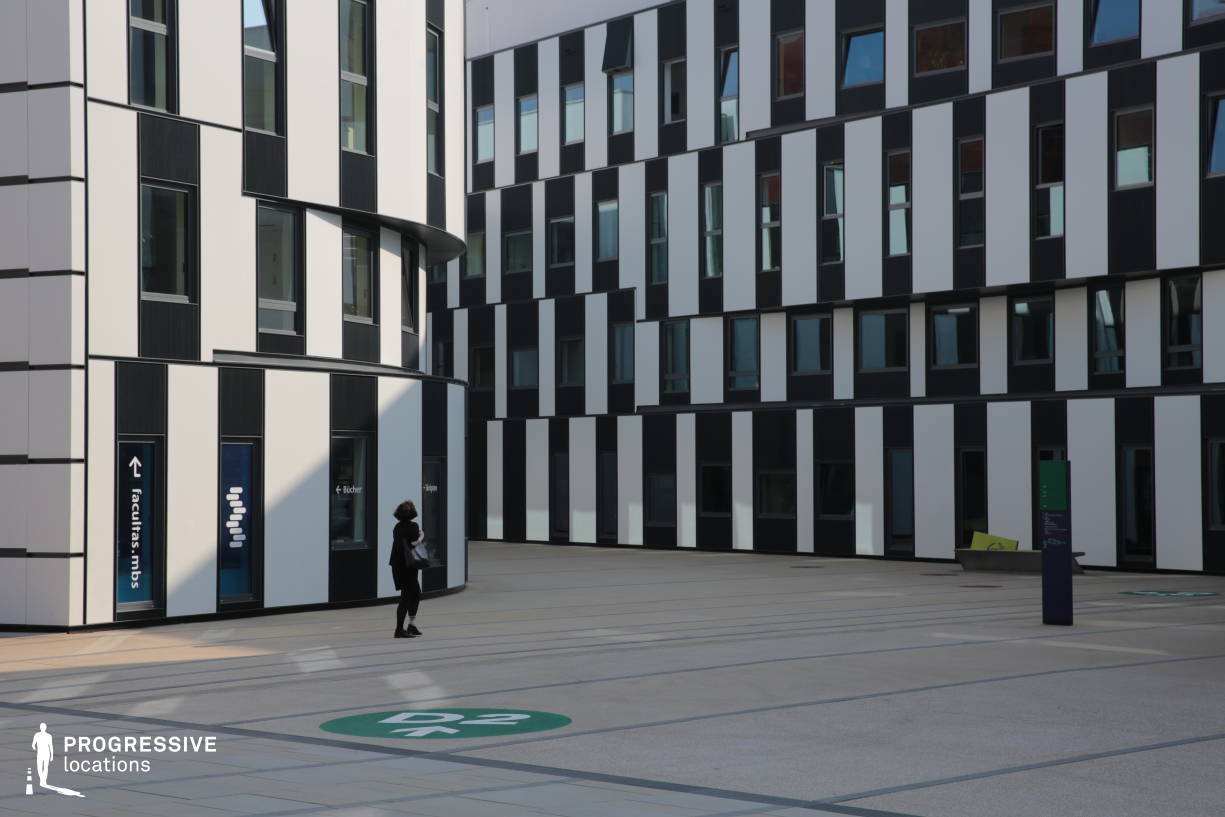 Locations in Austria: Geometricel Facade, University Of Economics