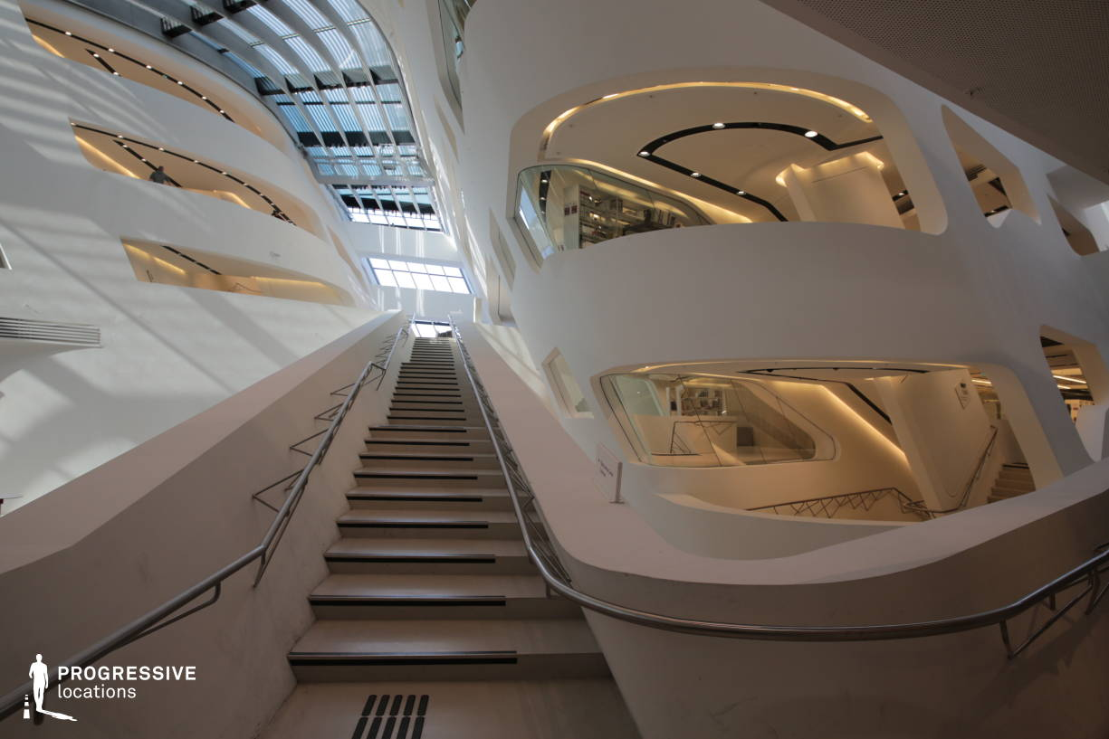 Locations in Austria: Sci-Fi Staircase, University Of Economics