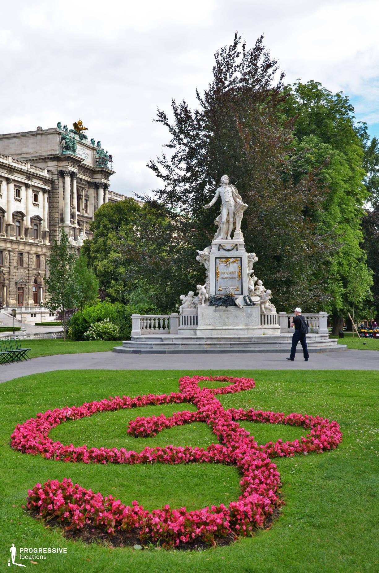 Locations in Austria: Mozart Statue, Burggarten