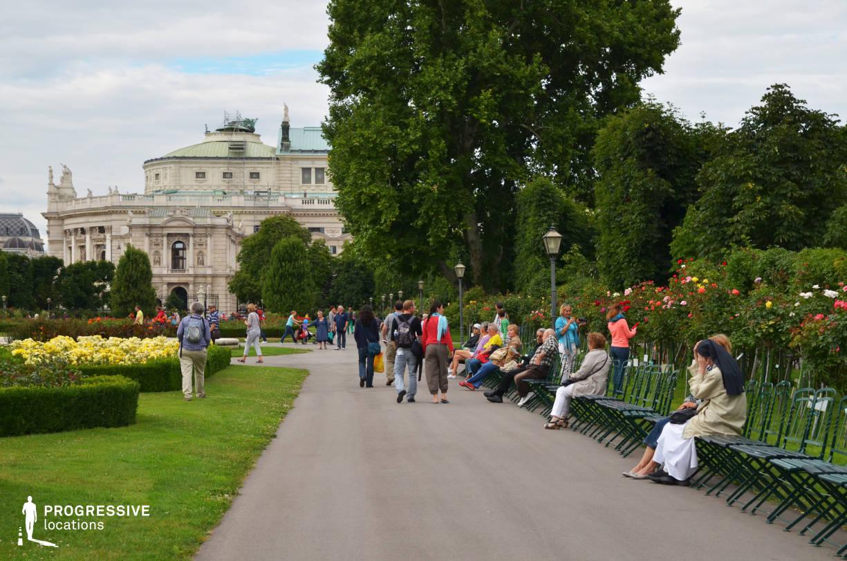 Locations in Austria: Burgtheater, Volksgarten