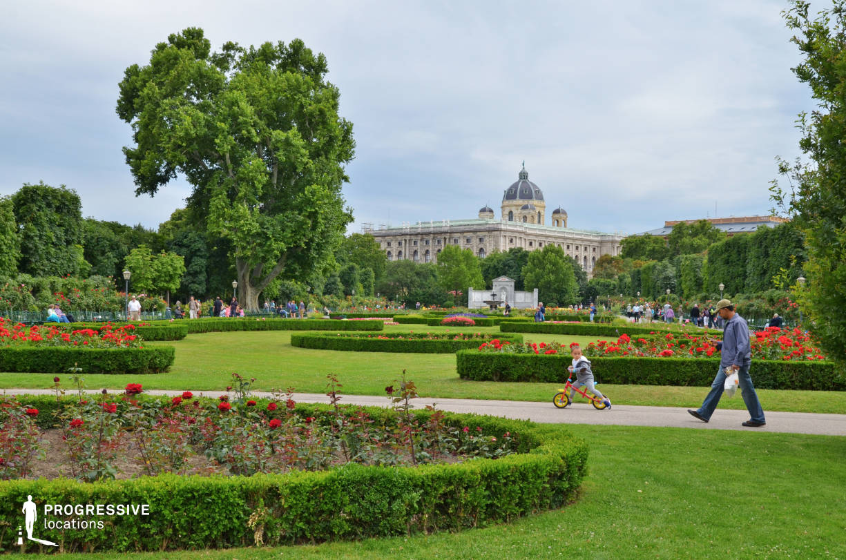 Locations in Austria: Volksgarten Park