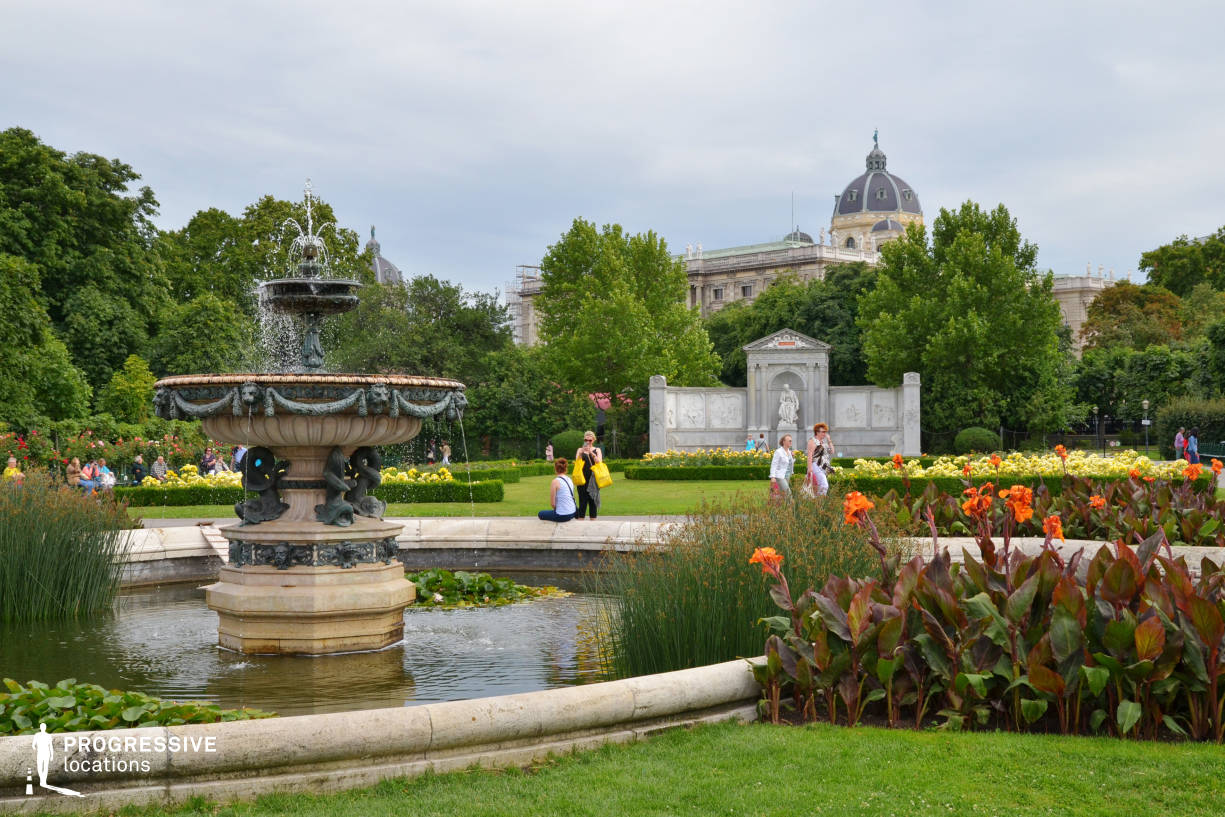 Locations in Austria: Fountain %26 Park, Volksgarten