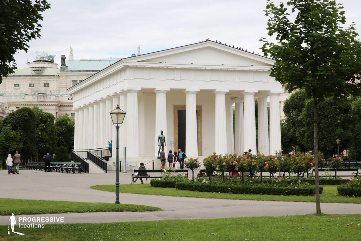 Locations in Austria: Park %26 Temple, Volksgarten