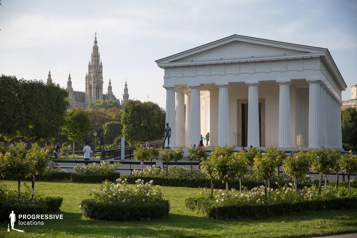 Locations in Austria: Rosegarten %26 Temple, Volksgarten