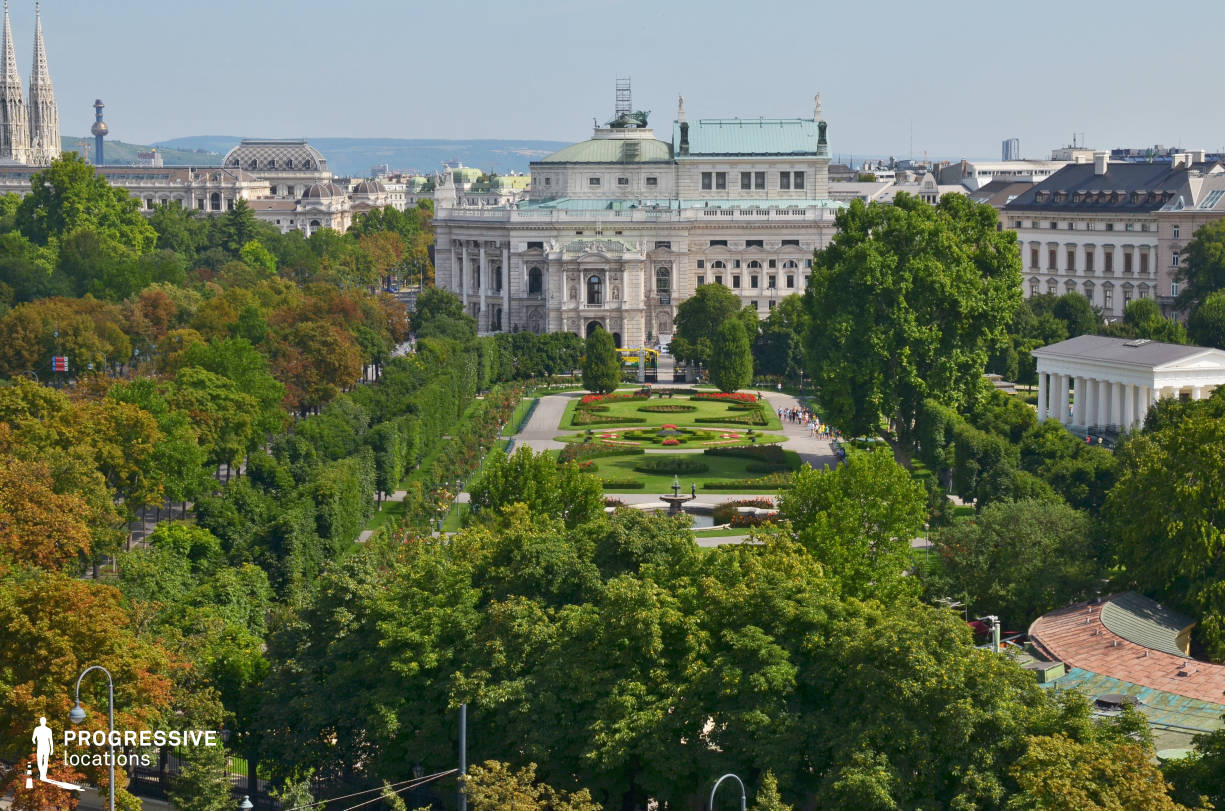 Locations in Austria: Volksgarten (Rooftop View)