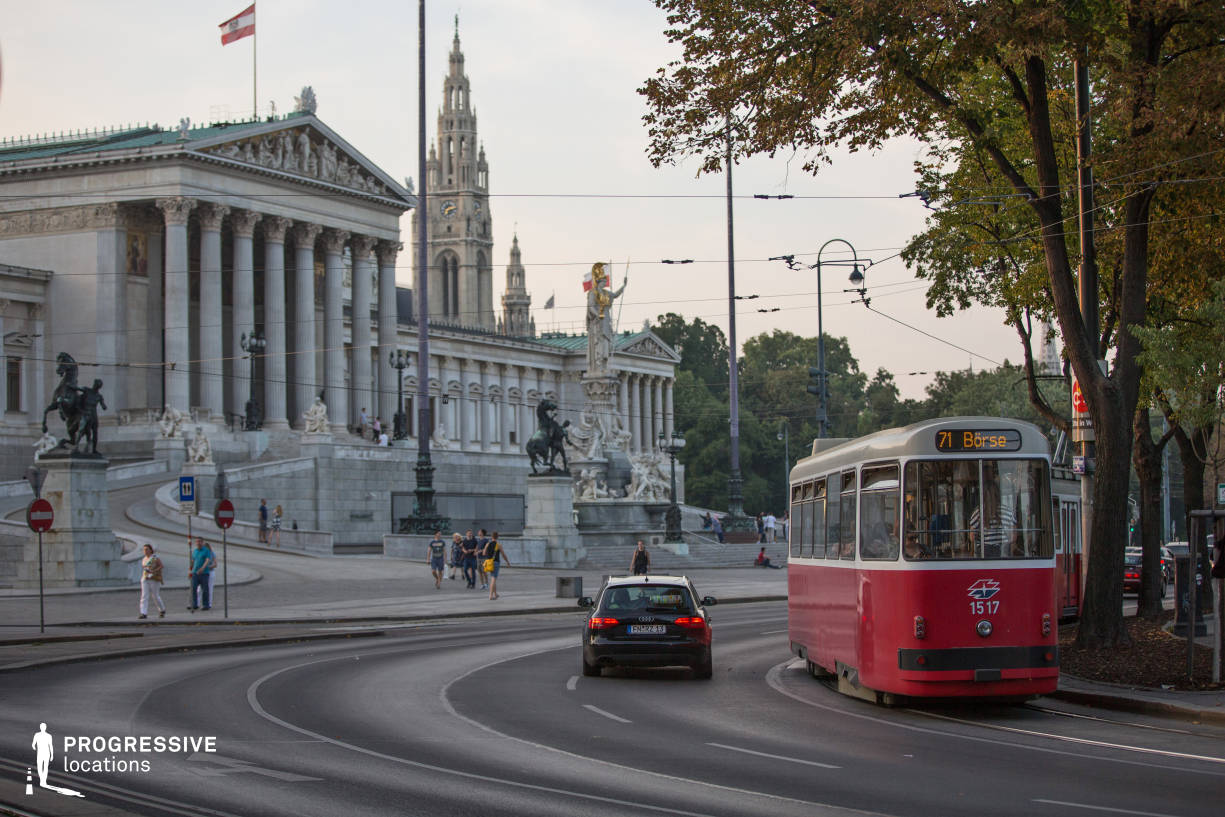 Locations in Austria: Parliament %26 Tram, Burgring