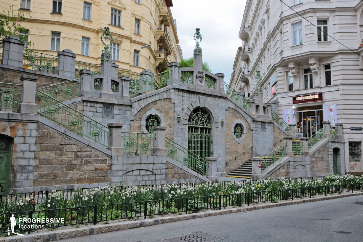 Locations in Austria: Art Nouveau Stairs, Fillgradergasse