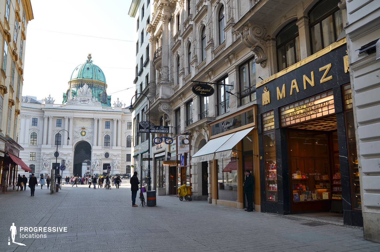 Locations in Austria: Kohlmarkt Shopping Street
