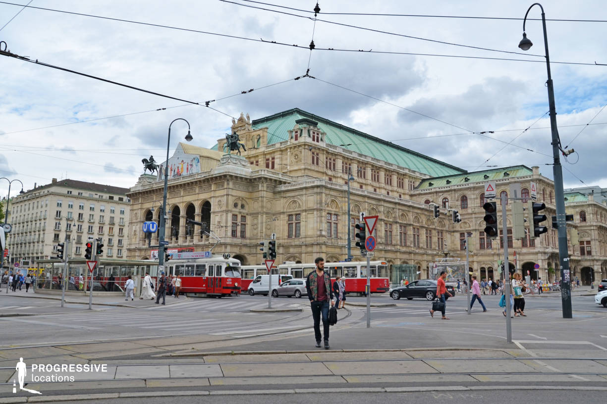 Locations in Austria: Ring Tram %26 Opera Exterior