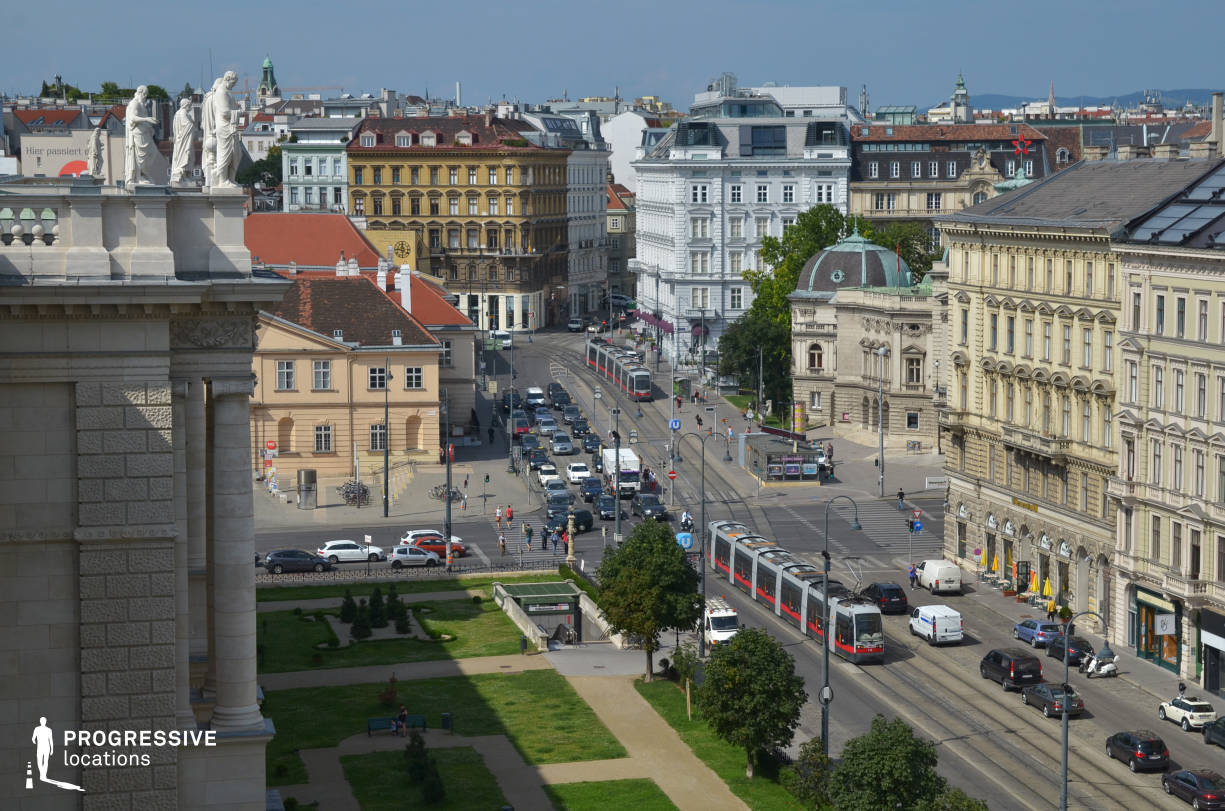 Locations in Austria: View From Naturhistorisches Museum Rooftop