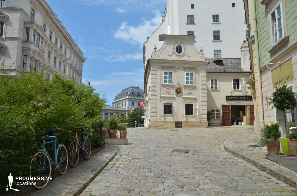 Locations in Austria: Cobblestone Alley, Schreyvogelgasse