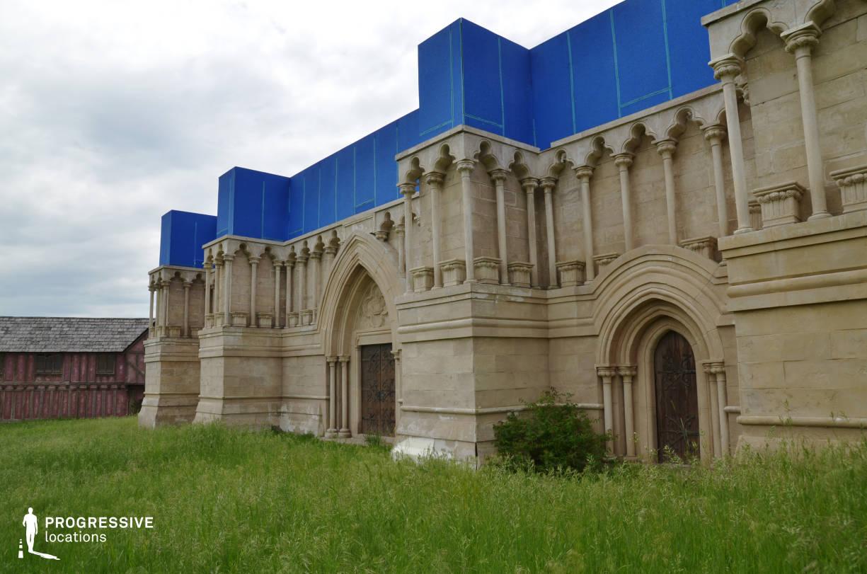 British Medieval Village Backlot: Church Facade Entrance