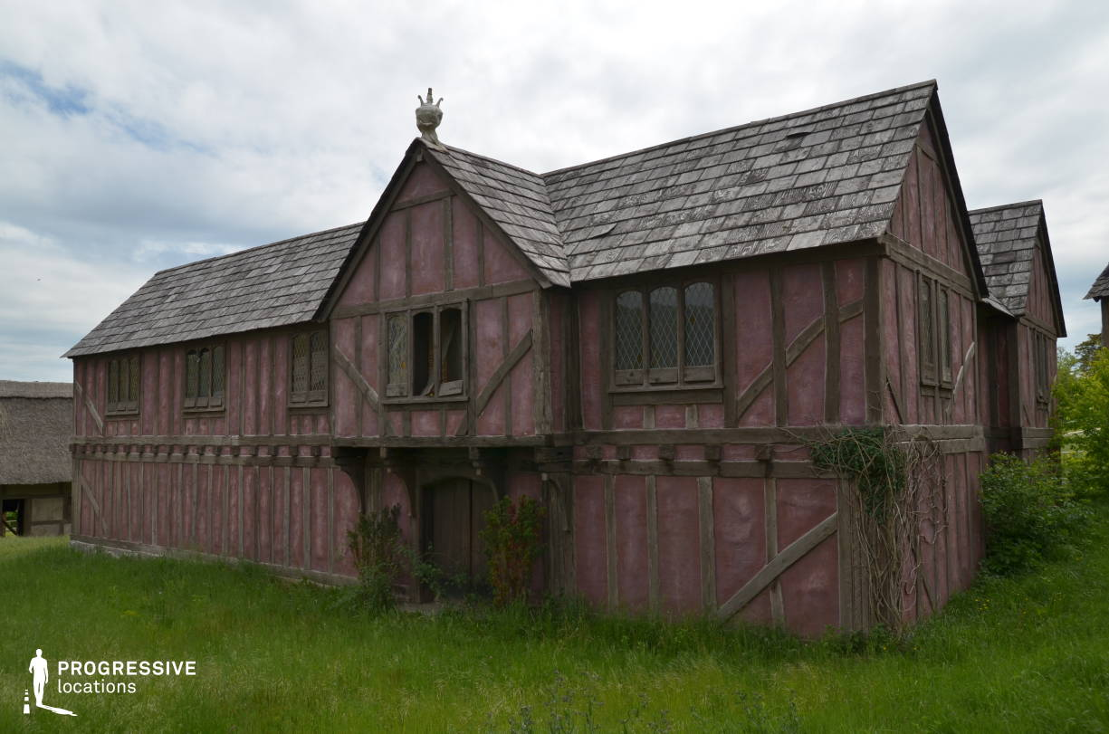 British Medieval Village Backlot: Red Wooden House