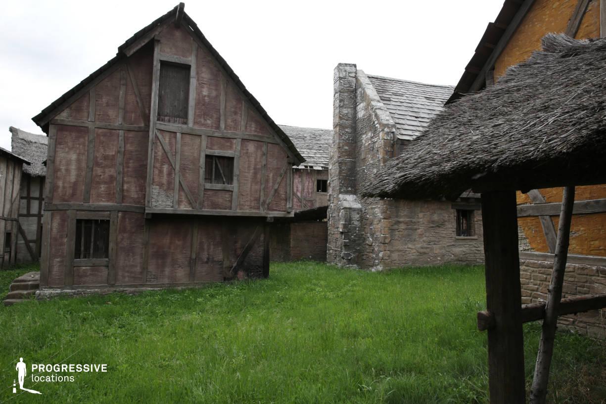 British Medieval Village Backlot: Wooden Frame Houses