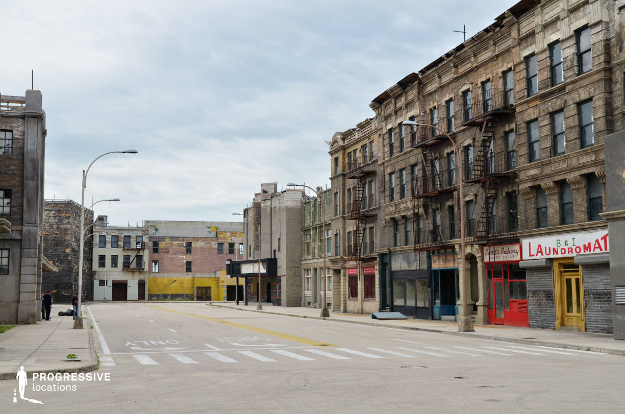 New York Street Backlot (Wide Shot, Opposite View)