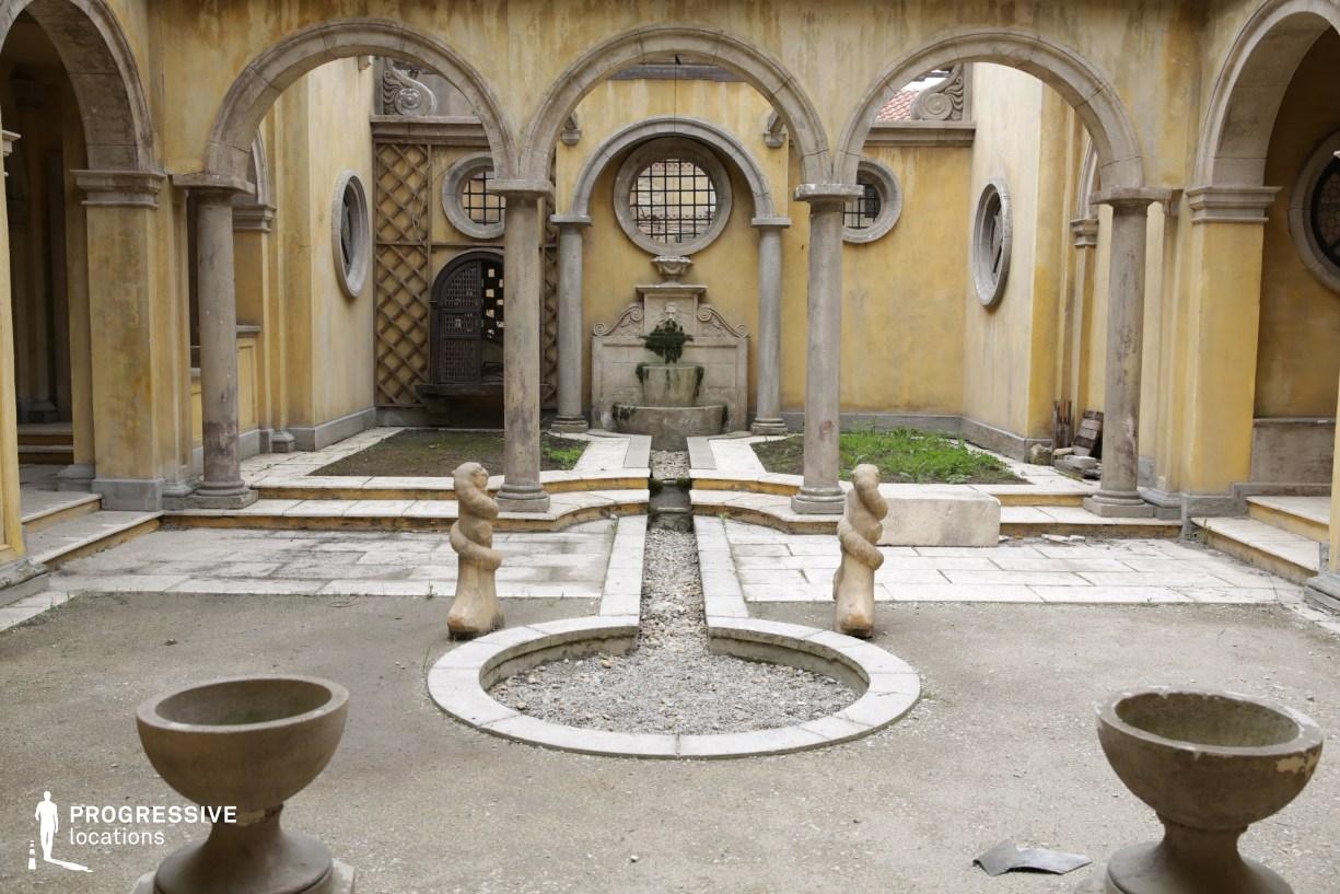 Renaissance City Backlot: Courtyard Arches %26 Fountain