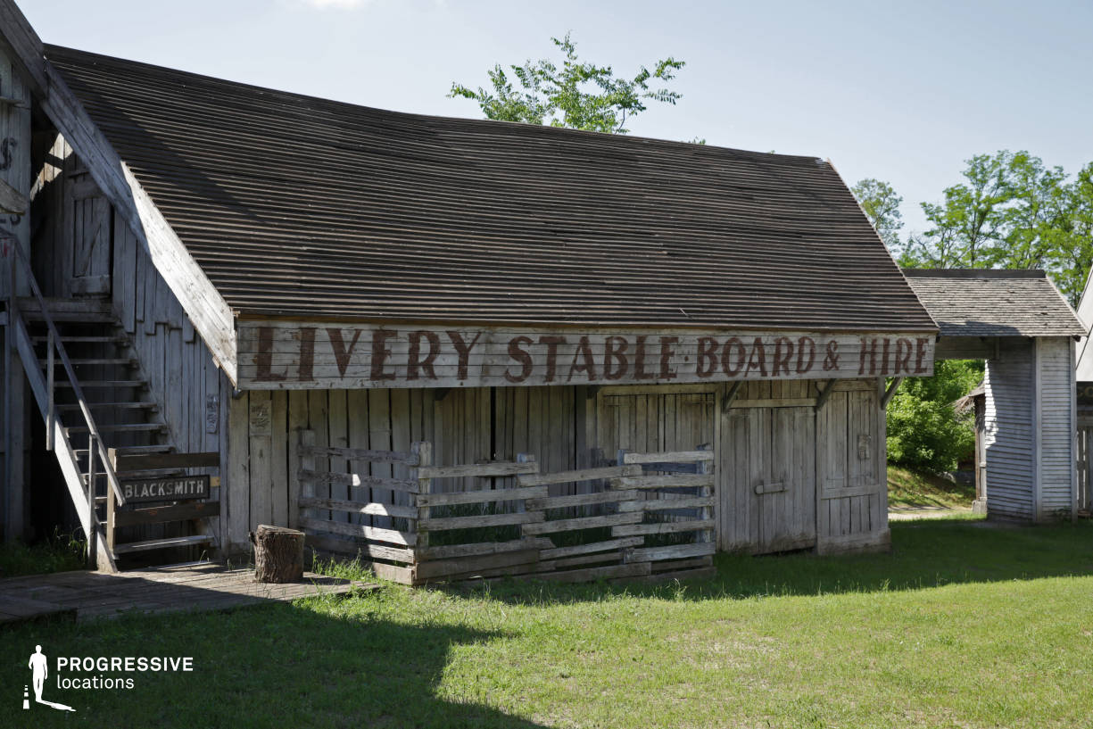 Western Town Backlot: Stable