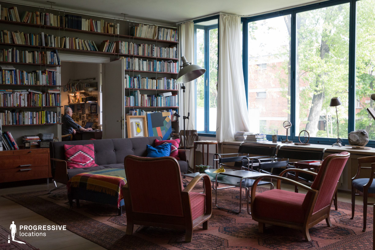 Locations in Budapest: Bauhaus Style Living Room