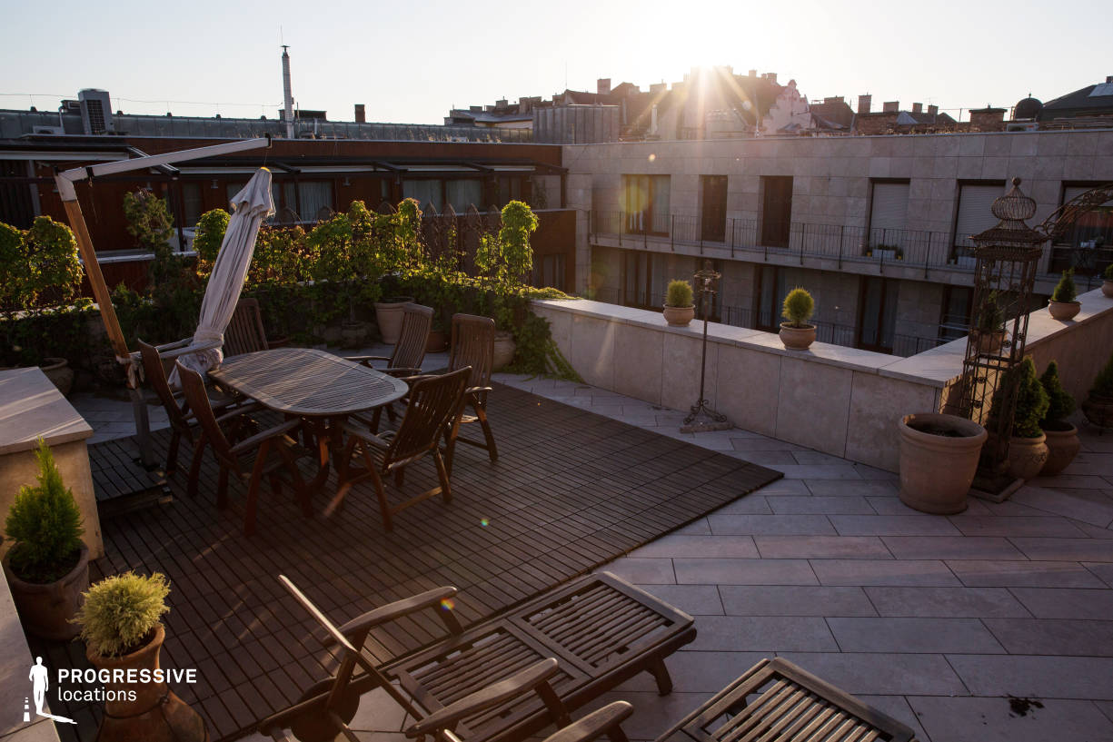 Locations in Budapest: Penthouse Rooftop Terrace