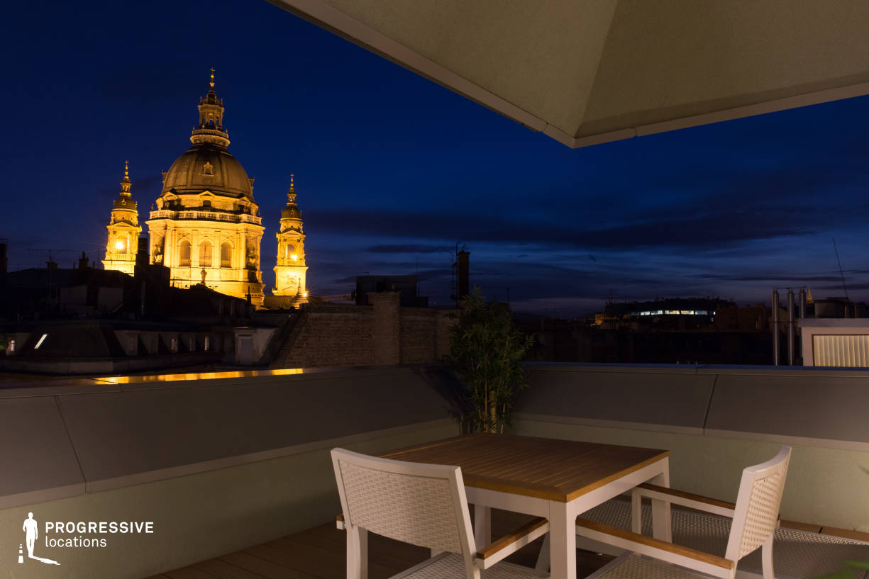 Locations in Budapest: Rooftop Terrace with Basilica View