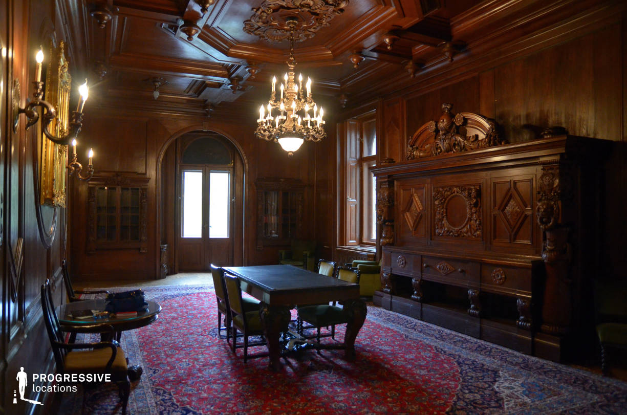 Locations in Budapest: Wooden Panelled Study Room