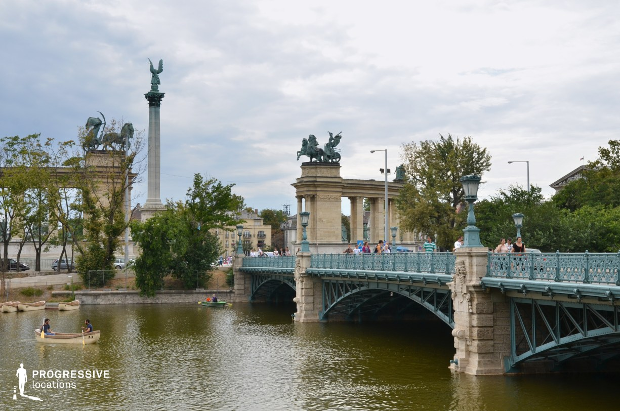 Locations in Budapest: Kos Karoly Bridge %26 Heroes Square