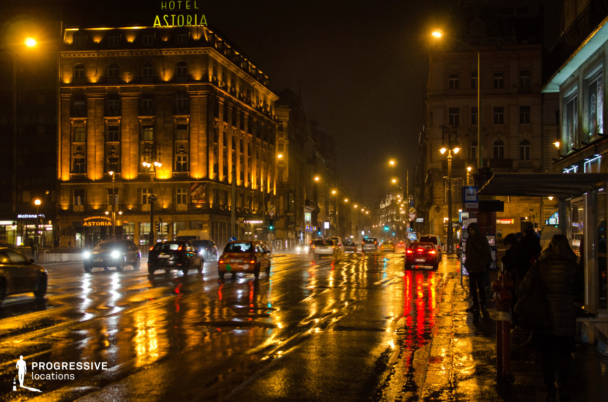 Locations in Budapest: Downtown Intersection at Astoria