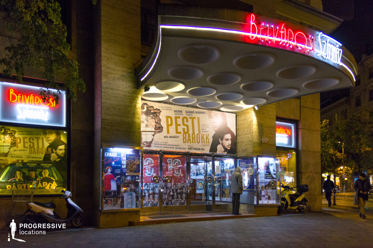 Locations in Budapest: Entrance, Belvarosi Theatre