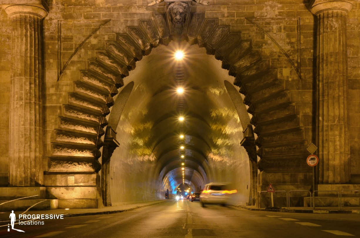 Locations in Budapest: Buda Tunnel