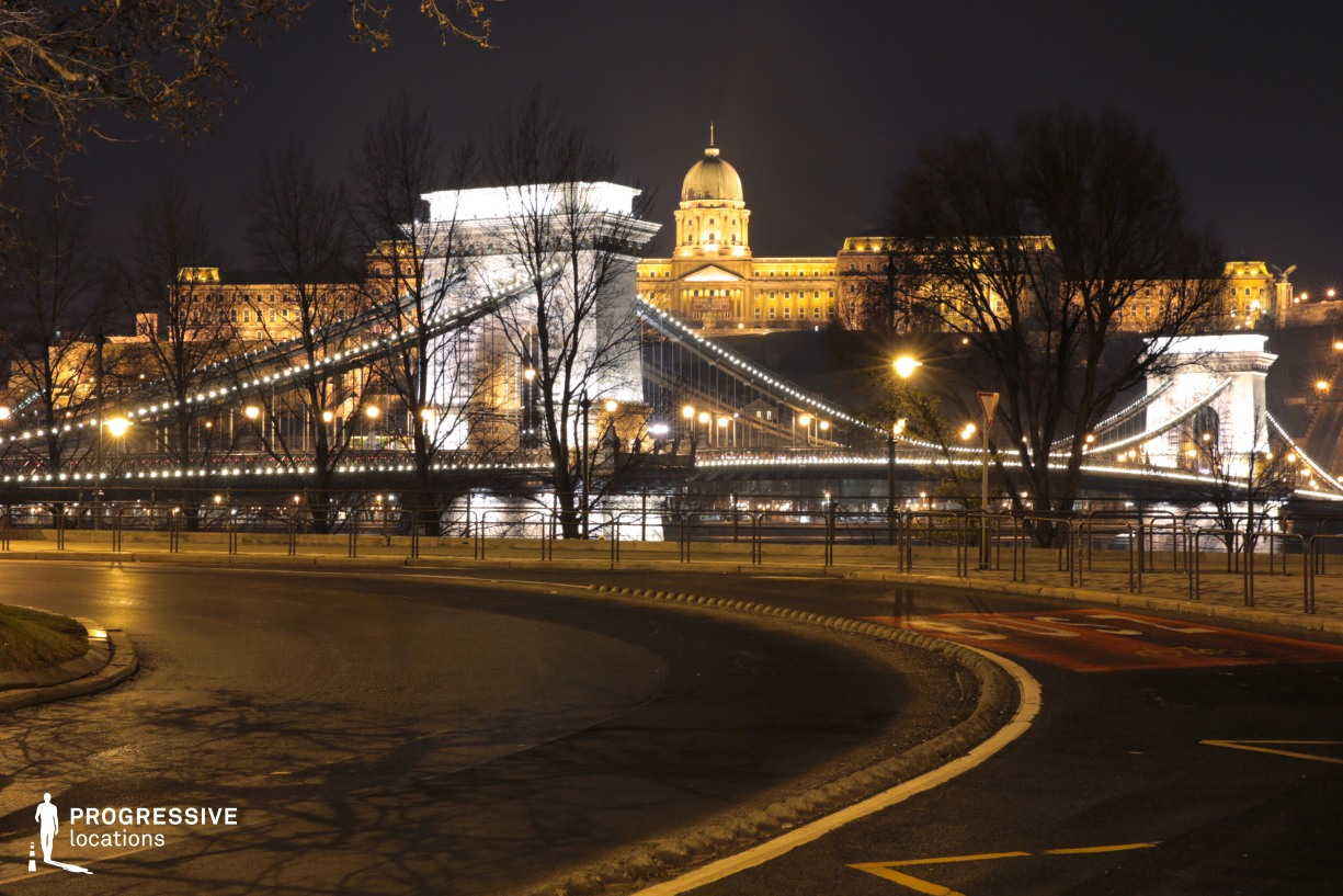 Locations in Budapest: Chain Bridge with Buda Castle