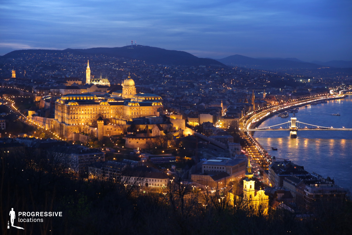 Locations in Budapest: City View with Chain Bridge