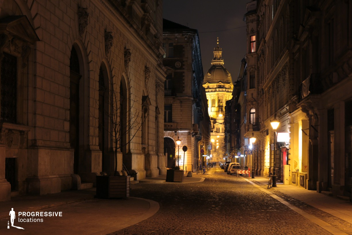 Locations in Budapest: Lazar Alley with Basilica