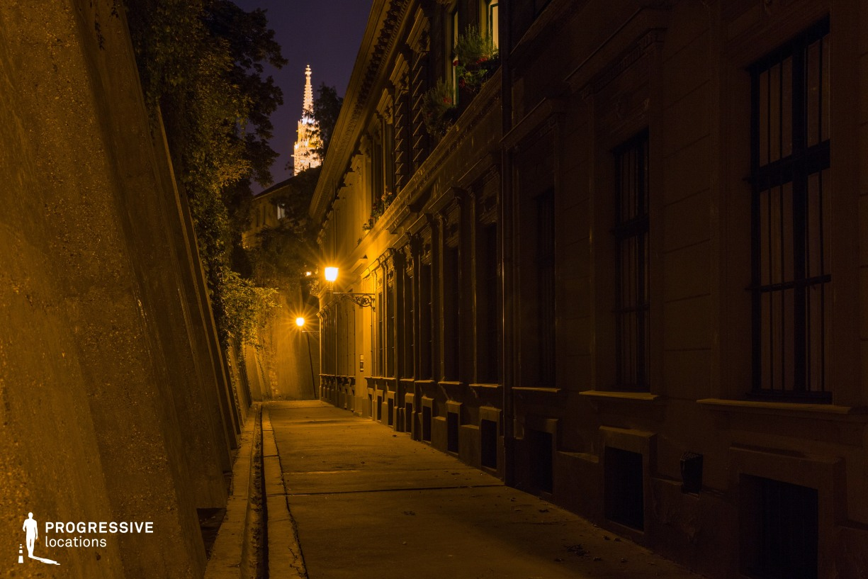 Locations in Budapest: Narrow Alley, Buda