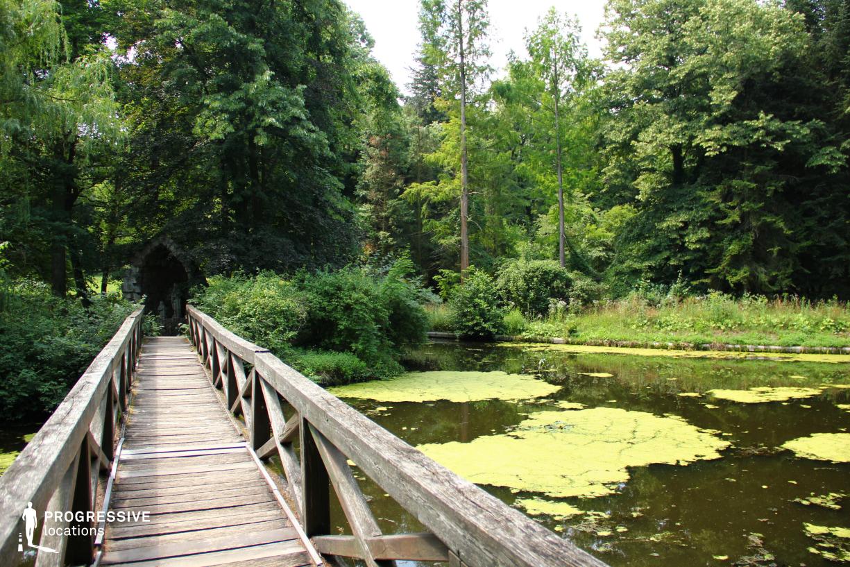 Locations in Hungary: Alcsut Park, Wooden Bridge